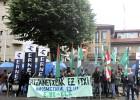 Protesta sindical contra la fusión de las comisarías de Azkoitia y Zarautz