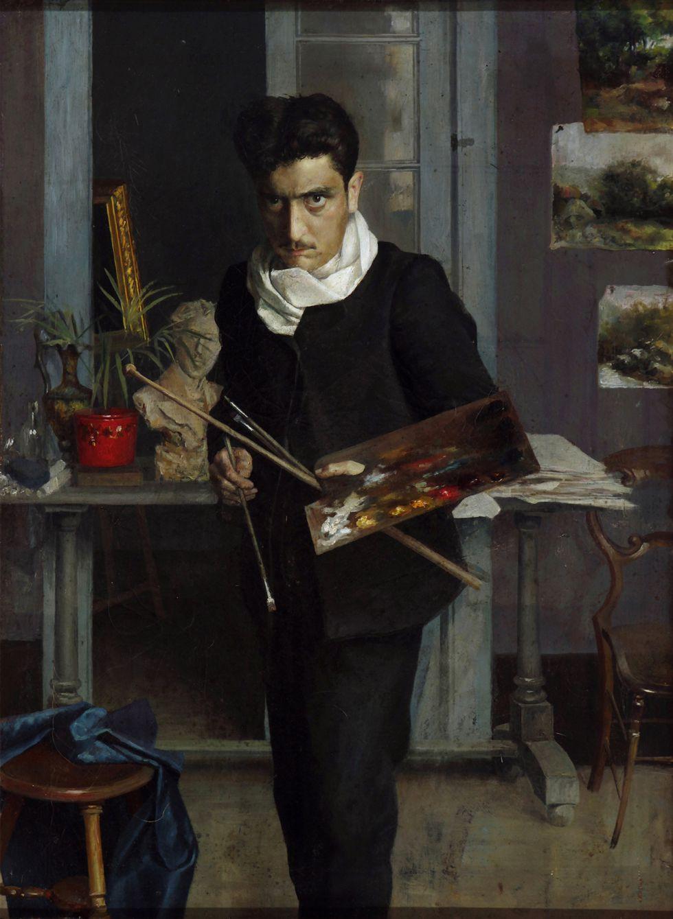 'Autorretrato de joven', de Julio Romero de Torres.
