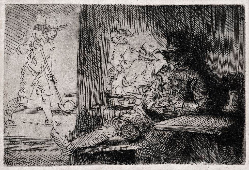'El jugador de golf' de Rembrandt. / COLECCIÓN FURIÓ
