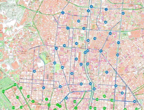 Madrid ampl a la bicicleta p blica a toda la almendra - Anillo verde ciclista madrid mapa ...