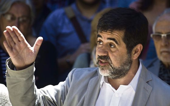 Jordi Sánchez, head of the National Catalan Assembly, had to correct his earlier statement. / Juan Barbosa - 1440591118_078821_1440591279_noticia_normal