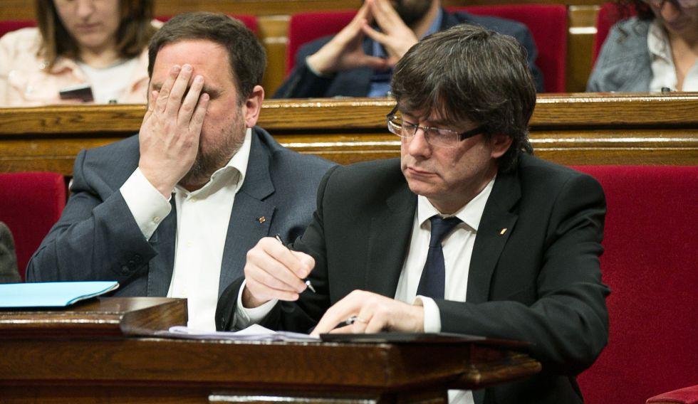Resultado de imagen de Puigdemont y Junqueras