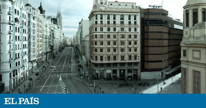 Un Madrid vacío e insólito