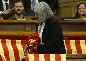 """La diputada que quitó las banderas españolas no se disculpa: """"Fue impuesta por las armas"""""""