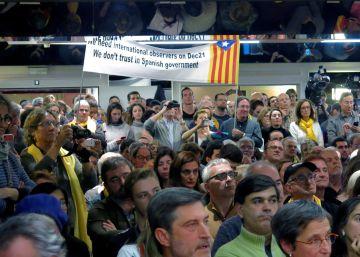 Los independentistas se manifiestan en Bruselas para instar a la UE a tomar posición en la crisis catalana