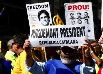 Miles de personas marchan en Barcelona para exigir la liberación de los políticos independentistas