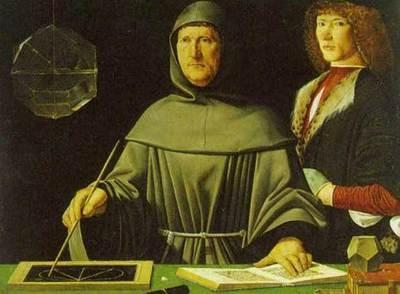 Retrato de Luca Pacioli, de Jacopo de'Barbari (1440;1515). Museo di Capodimonte (Nápoles)
