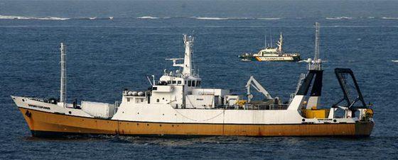 La guardia civil obliga al buque cazatesoros 'odyssey explorer' a dirigirse de gibraltar a algeciras