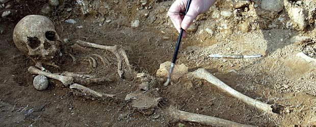 Restos merovingios hallados en el Este de Francia