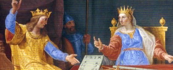 Fragmento del fresco 'Salomón y la Reina de Saba' de Tibaldi, conservado en El Escorial