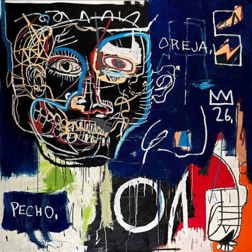 El cuadro 'Untitled (Pecho/oreja)' de Jean-Michel Basquiat, puesto a subasta por U2.