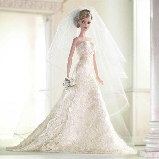 La muñeca de tus sueños: Barbie Carolina_Herrera_viste_novia_Barbie