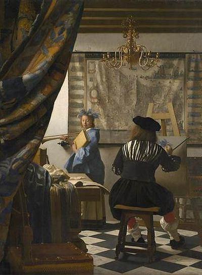 El cuadro 'El arte de la pintura' de Vermeer