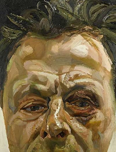 Autorretrato de Lucien Freud que muestra su ojo morado. SOTHEBY'S