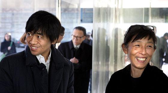 Nishizawa y Sejima en Barcelona en 2008