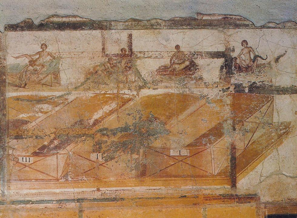 Visión general de este conjunto de frescos eróticos