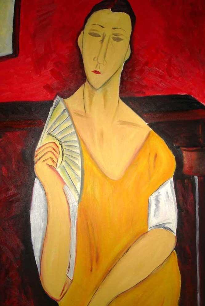 'La femme à l'éventail' de Amédéo Modigliani