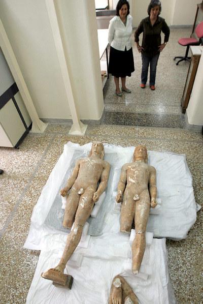 Estatuas griegas recuperadas. EFE