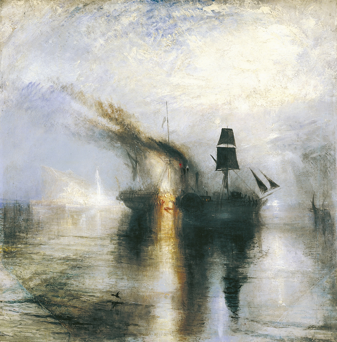Joseph Mallord William Turner, Entierro en el mar, óleo sobre lienzo, 870 x 867 mm. TATE MUSEUM