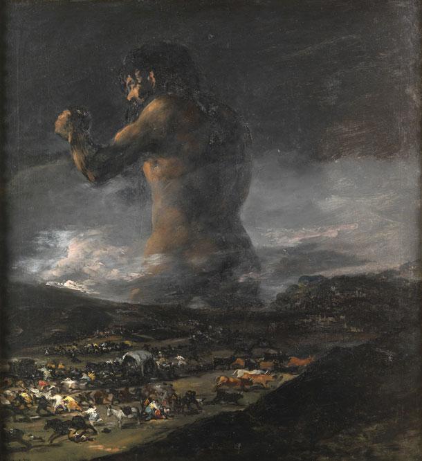 La célebre pintura del gigante, atribuida a Goya, es considerada obra probable de su discípulo Asensio Juliá, desde finales de enero de 2009. Una de las pinturas goyescas más admiradas durante décadas luce ahora en el Prado con un rótulo que desmiente la autoría del aragonés.- MUSEO DEL PRADO