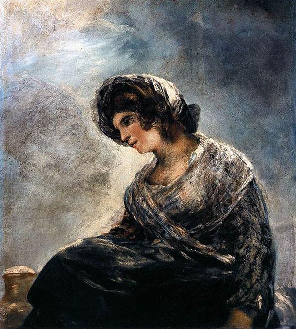 La lechera, atribuida a Goya y perteneciente al Museo del Prado, también ha sembrado dudas a la estudiosa Juliett Wilson, quien argumenta que es, al menos en parte, obra de la discípula (y probable hija ilegítima) del pintor, Rosario Weiss.- MUSEO DEL PRADO