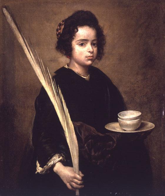 Jonathan Brown, una autoridad en la obra de Diego Velázquez, puso en duda que la pintura saliera de la paleta del pintor sevillano. La fundación Focus Abengoa la compró en julio de 2007 por 12 millones de euros y ha certificado su autenticidad. Santa Rufina estuvo atribuida a Bartolomé Esteban Murillo, al menos desde que en 1868 se expuso en Londres y hasta 1963.- FUNDACIÓN FOCUS ABENGOA