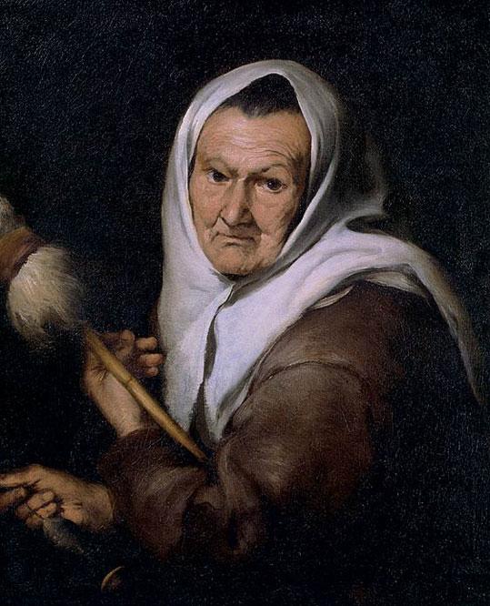 Vieja hilandera ha  recuperado la autoría de Murillo. La tela, que figuró como pintura de un  autor desconocido, fue hallada en la colección de The National Trust  (Gran Bretaña) y se expuso en Bilbao en 2009.- THE NATIONAL TRUST
