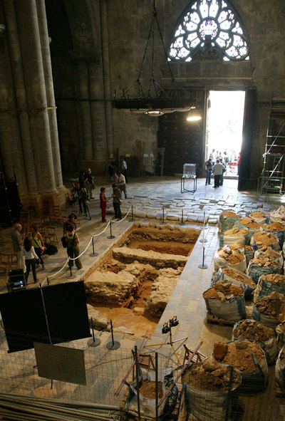 Después de siglos de polémica, han salido a la luz los restos del templo de Augusto, ocultos bajo la catedral de Tarragona- JOSÉ LUIS SELLART