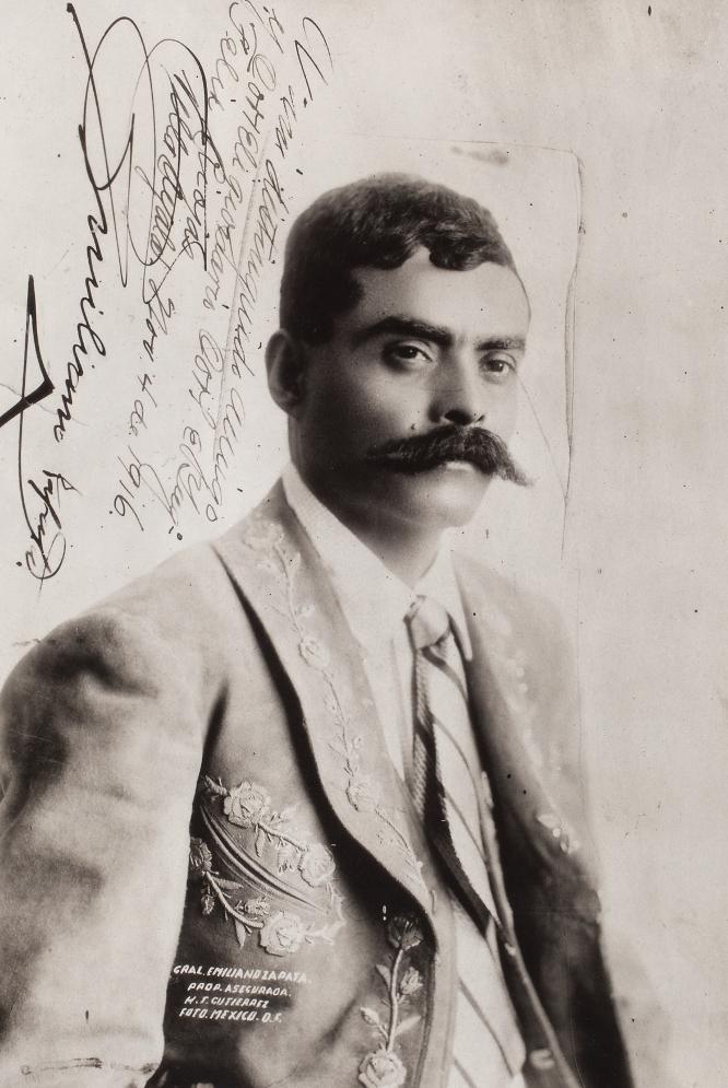 Un pedazo de historia. H. J. GUTIÉRREZ | Retrato de Emiliano Zapata, dedicada por el propio general al coronel Félix Rojas. Noviembre de 1916.