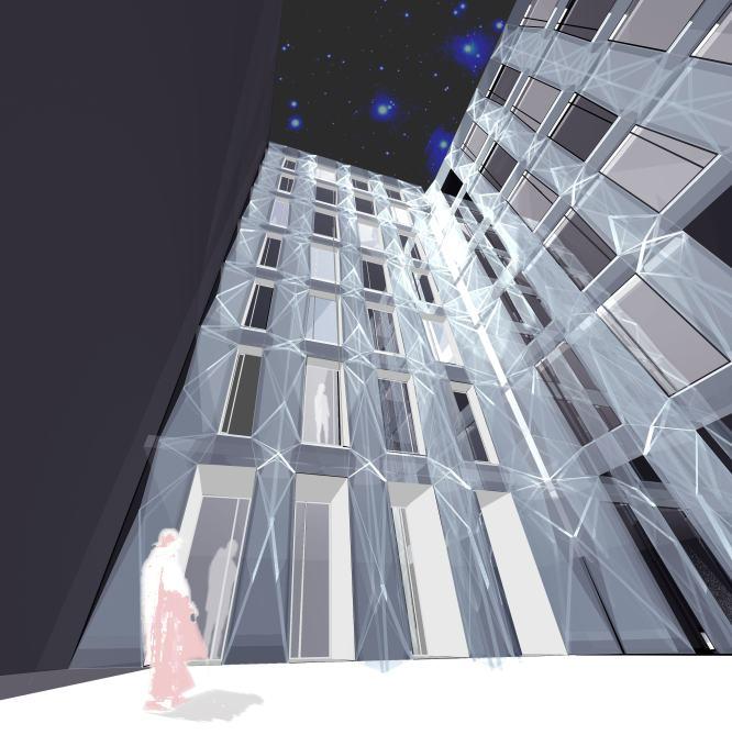 Otro proyecto del estudio Mingo Arquitectos que estará en la exposición de Costrutec. En la calle Serrano algunas viviendas se reconvertirán en oficinas. La estructura exterior del edificio será la misma. En el patio interior se proyectará un imagen más contemporánea.- ESTUDIO MINGO ARQUITECTOS
