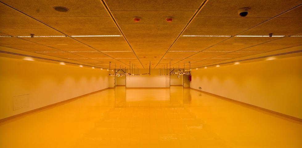 Los almacenes del Museo Arqueológico, totalmente vacíos. JOSÉ MANUEL BALLESTER