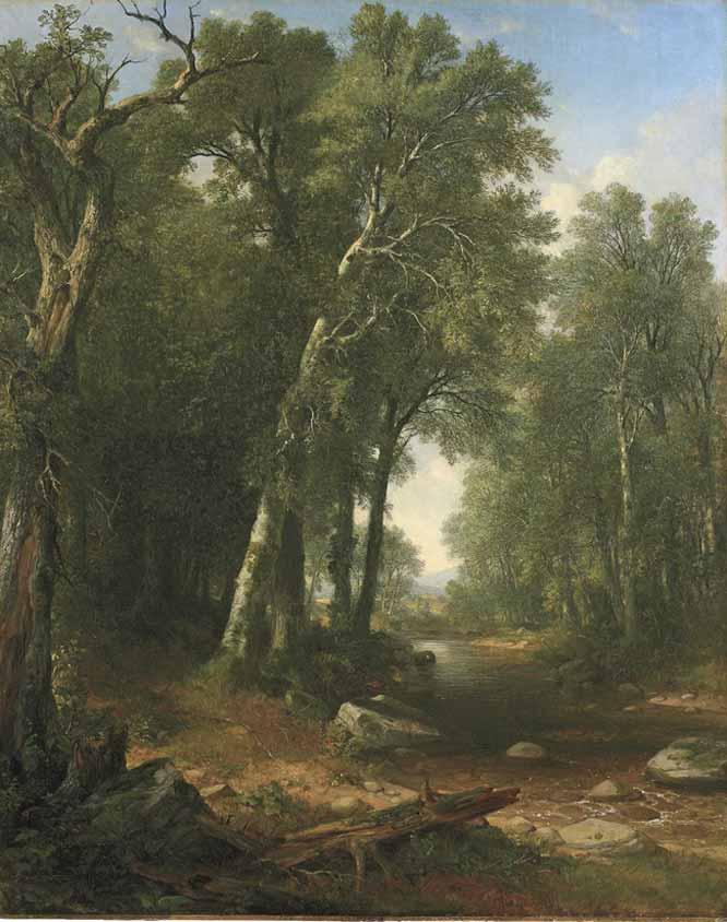 Arroyo en el monte, de A-B Durand (1859)