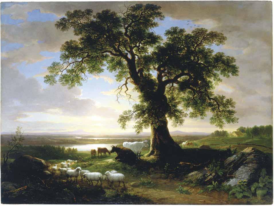 El roble solitario, A.B. Durand (1844)