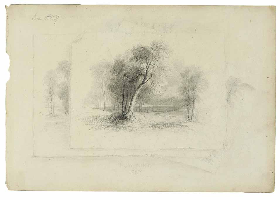 Frontispicio con trompe, de A.B.Durand (1837)