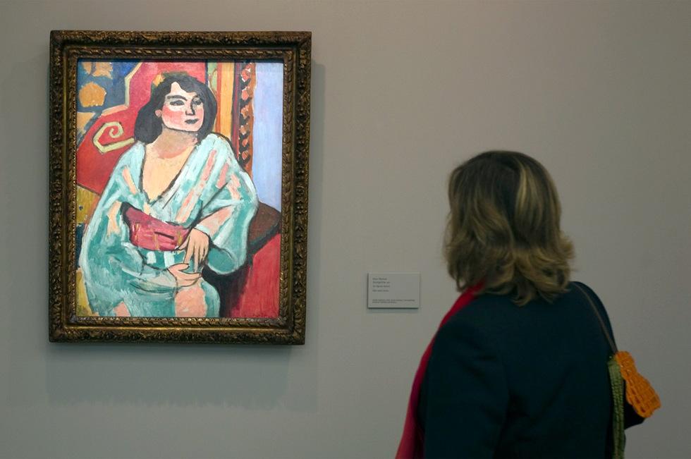 La argelina, una de las obras de la exposición de Henri Matisse, Matisse y La Alambra en el museo de Bellas Artes de Granada. Julián Rojas