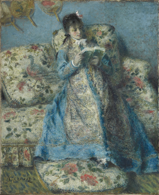Retrato de Madame Monet (Madame Claude Monet leyendo). Óleo sobre lienzo, 61.3 x 50.5 cm de 1874. STERLING AND FRANCINE CLARK ART INSTITUTE