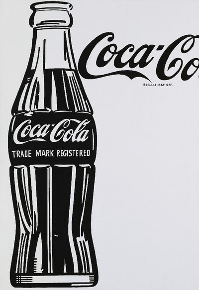La obra Coca-Cola 4, de Warhol, vendida en Sotheby's por 25,7 millones de euros.- EFE