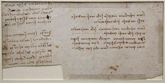 De puño y letra de Da Vinci