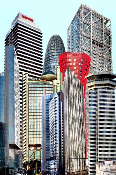 Fotomontaje con las torres más altas de Barcelona y L'Hospitalet.- IGNACIO ADEVA
