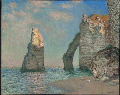 Los acantilados de Étretat, 1885 de Claude Monet- CLARK ART INSTITUTE lark Art Institute.