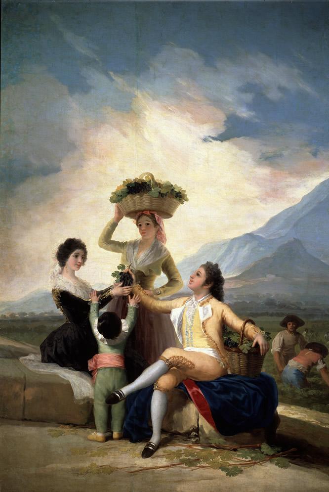 La Vendimia. Francisco de Goya. Óleo sobre lienzo, 267,5 x 190.5 cm 1786 - 1787 Madrid, Museo Nacional del Prado