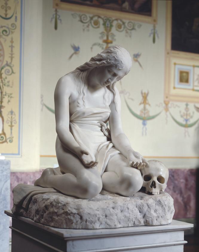 María Magdalena arrepentida.Antonio Canova. Mármol, 94 cm 1809 San Petersburgo, State Hermitage Museum