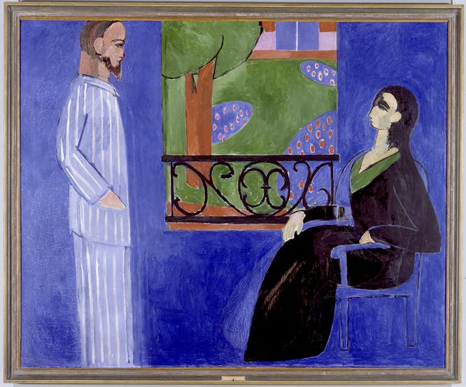 Conversación. Henri Matisse. Óleo sobre lienzo, 177 x 217 cm Entre 1908 y 1912 San Petersburgo, State Hermitage Museum