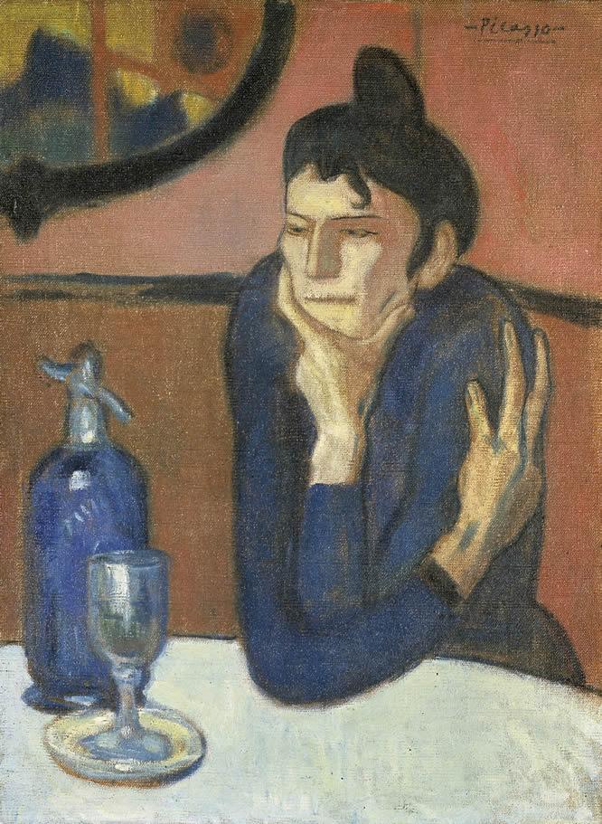 La bebedora de absenta. Pablo Picasso. Óleo sobre lienzo, 73 x 54 cm 1901 San Petersburgo, State Hermitage Museum
