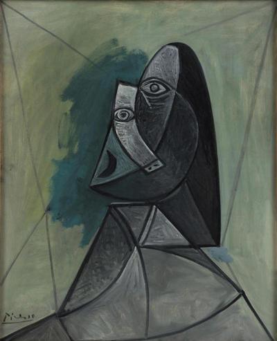 Busto de mujer (1943), expuesta en el museo holandés Van Abbe, que negocia su cesión a la Academia Internacional de Arte Palestina.-
