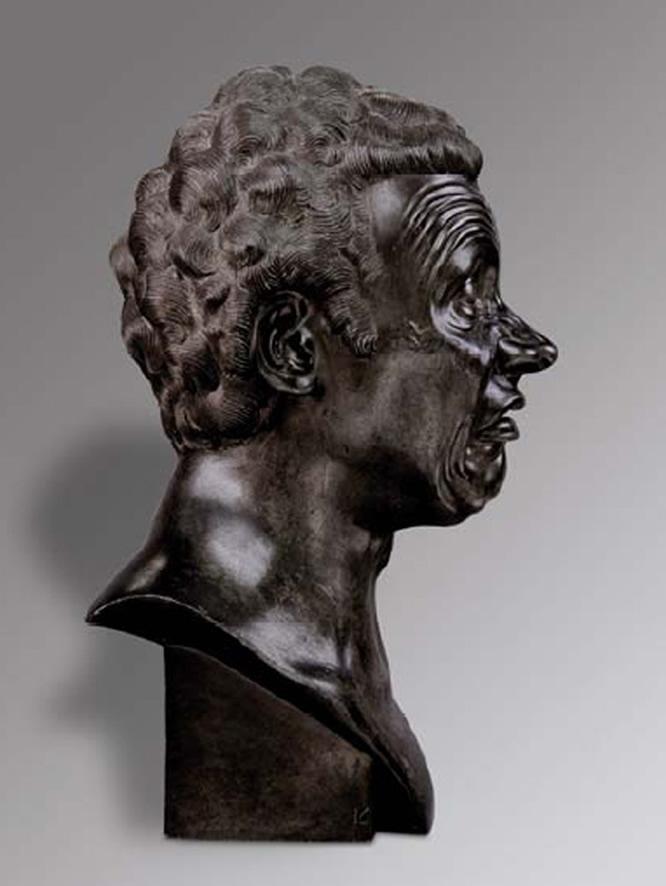 L' Homme qui pleure comme un enfant 1771- 1783. Alliage d' étain et de plomb H 44 l 22 pr 25 cm Budapest Szépmûvészeti Múzeum 51. 936 Budapest Szépmûvészeti Múzeum