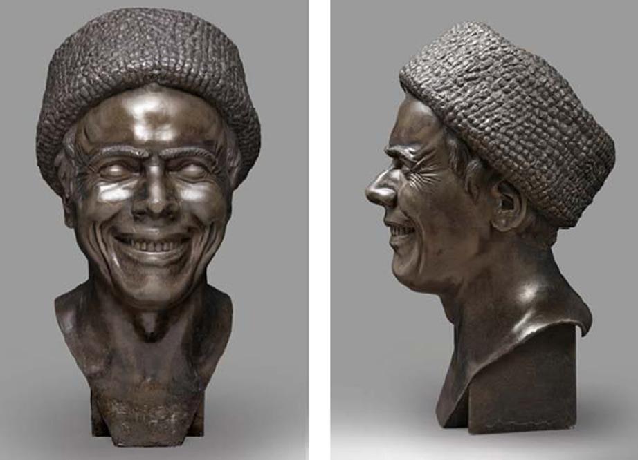 L' Artiste tel qu' il s' est imaginé en train de rire 1777- 1781. Étain H 43, 1 | 23 pr 25 cm Belgique collection particulière Bruxelles Photo d' Art