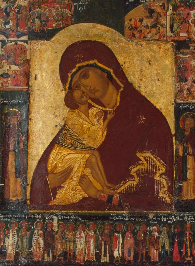 Icono de Nuestra Señora de Don, región del Volga, finales del siglo XVI, principios del XVII.-