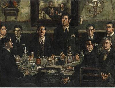 Tras la restauración de La tertulia del café de Pombo, de José Gutiérrez Solana, se ha encontrado otro cuadro, en este caso una imagen de carácter religioso. Museo Nacional Centro de Arte Reina Sofía - Pepe Loren