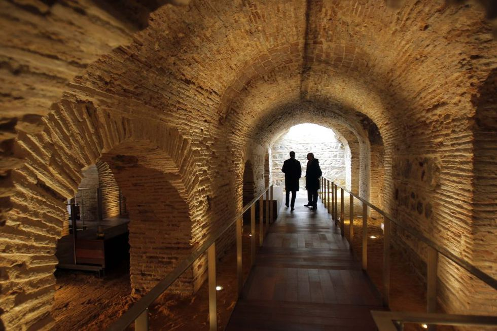 Las renovadas instalaciones recuperan para el público un conjunto histórico de cuevas mudéjares, ahora visitables. GORKA LEJARCEGI